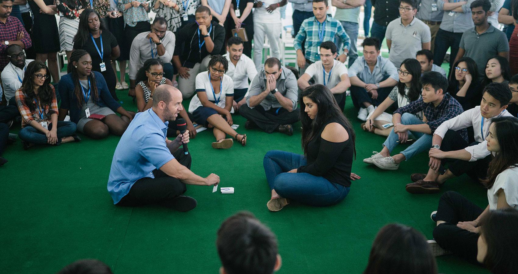 Todd Kashdan speaking in Hanoi